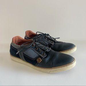 Wild Rhino Navy Leather Parker Size 36